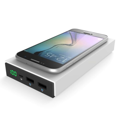 Vinsic 2 in1 Qi Wireless Charger 12000mAh Power Bank