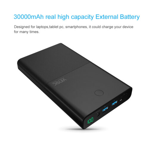 Vinsic 30000mah power bank with 3 Outports